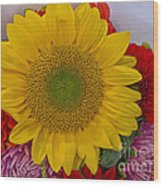 Sunshine Bouquet Wood Print