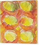 Sunshine Circles Wood Print