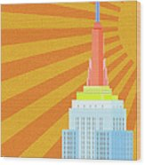 Sunshine City Wood Print