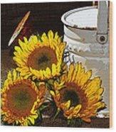 Sunshine From The Garden Wood Print
