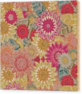 Sunshine Garden Wood Print
