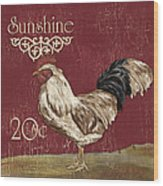 Sunshine Rooster Wood Print
