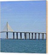 Sunshine Skyway Bridge II Tampa Bay Florida Usa Wood Print