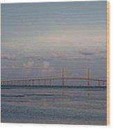 Sunshine Skyway Bridge Wood Print by Steven Sparks