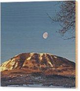 Sunshine Super Moon Wood Print
