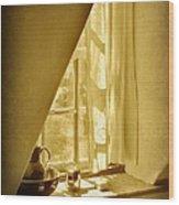 Sunshine Through The Window Wood Print