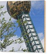 Sunsphere 1982 World Fair Wood Print