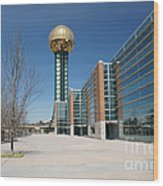 Sunsphere Knoxville Tn Wood Print