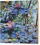 Sunspots On The Lilies Wood Print