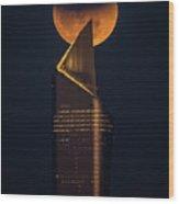 Super Blue Blood Moon Wood Print