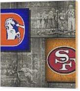 Super Bowl 24 Wood Print