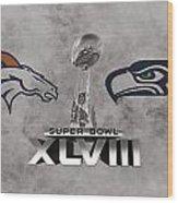 Super Bowl Xlvlll Wood Print
