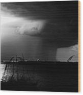 Super Cell Over Tampa Bay Wood Print