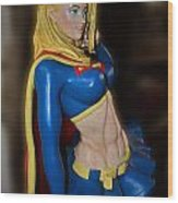 Super Girl Wood Print