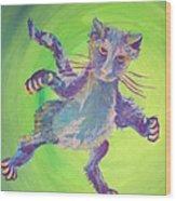 Super Kitty Wood Print