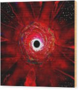 Super Massive Black Hole Wood Print