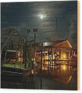 Super Moon At Nelsons Wood Print