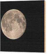 Super Moon Wood Print