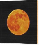 Super Moon Hatteras Island 7/12/2014 Wood Print