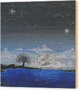 Super Moon Wood Print by Jim Bowers