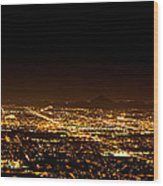 Super Moon Over Phoenix Arizona  Wood Print