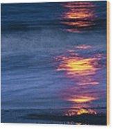 Super Moon Reflection Wood Print