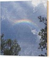 Super Rainbow Wood Print