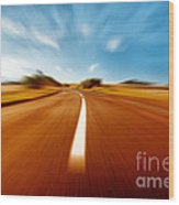 Super Speed Road Wood Print by Boon Mee