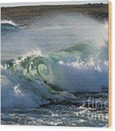 Super Wave At The Barents Sea Coast Wood Print
