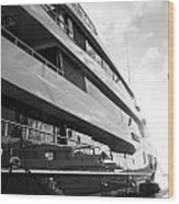 Super Yacht Wood Print