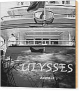 Super Yacht Ulisses Wood Print