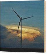 Supercell Windmill Wood Print