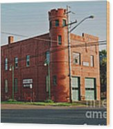 Superior Fire House Wood Print
