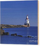 Superior South Lighthouse - Fm000036 Wood Print