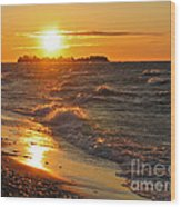 Superior Sunset Wood Print