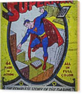 Superman Wood Print by Mitch Shindelbower