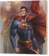 Man Of Steel Wood Print