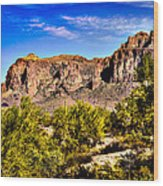 Superstition Mountain Arizona Wood Print