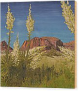Superstition Mountain Wood Print