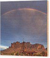 Superstition Rainbow  Wood Print
