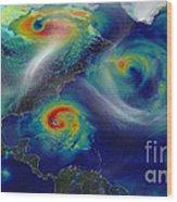 Superstorm Sandy Wood Print