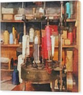 Supplies In Tailor Shop Wood Print