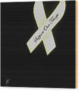 Support Our Troops Ribbon Antique Car Show Casa Grande Arizona 2004 Wood Print