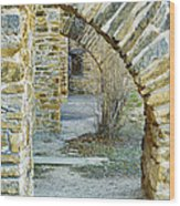 Supporting The Walls Wood Print
