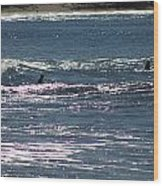 Surf 2 Wood Print