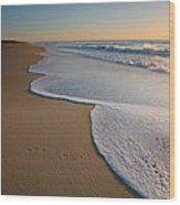 Surf And Sand Wood Print by Steven Ainsworth