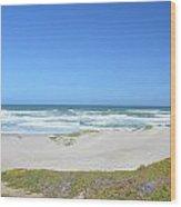 Surf Beach Lompoc California 3 Wood Print