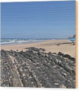 Surf Beach Portugal Wood Print