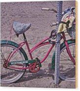 Surf Bike Wood Print