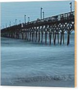Surf City Pier Soft 2 Wood Print